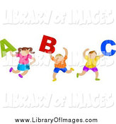 December 27th, 2013: Clip Art of Children Carrying ABC Letters by Prawny