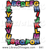 Clip Art of Colorful Alphabet Letters - Stationery Border Design by Prawny