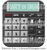 Clip Art of Desk Calculator by Djart