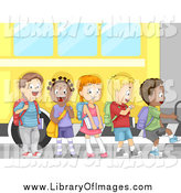 September 25th, 2014: Clip Art of Diverse School Children Boarding a Bus by BNP Design Studio