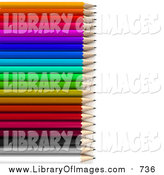Clip Art of Rainbow Colored Pencils by Frank Boston