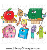 Clip Art of School Characters by Visekart