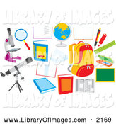 Clip Art of School Items by Alex Bannykh