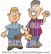 Clip Art of Two Male Bullies Picking a Fight by Djart