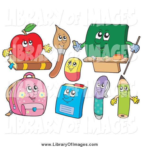 Clip Art of School Characters