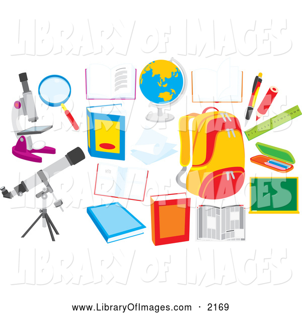 Clip Art of School Items