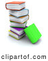 Clip Art of a Colorful Thick Text Books Stacked High by KJ Pargeter