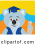 Clip Art of a Friendly Graduation Koala Bear Character by Dennis Holmes Designs