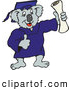 Clip Art of a Happy Koala Graduate Holding up a Diploma Certificate by Dennis Holmes Designs